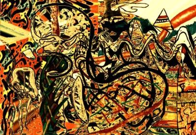 """Feitiço"" 1987 acrílica s/ tela"