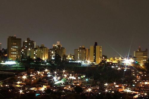 Iluminação pública, Campinas, noite