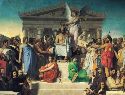 Apoteose de Homero por Jean Auguste Dominique Ingres, 1827.