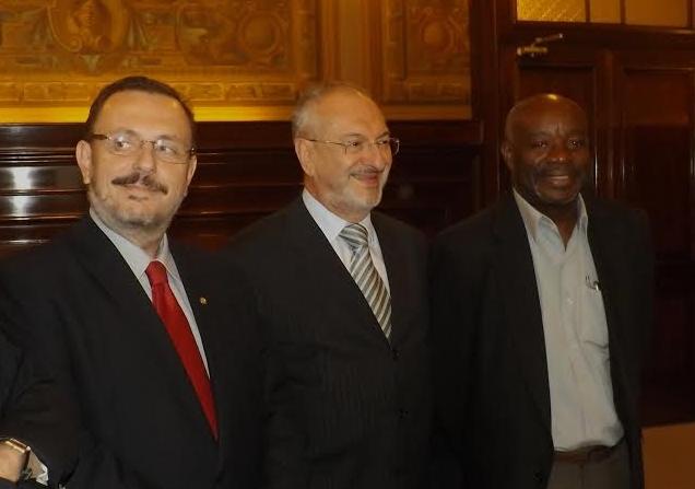 Renato Simões, José Renato Nalini e Carlão do PT no TJSP
