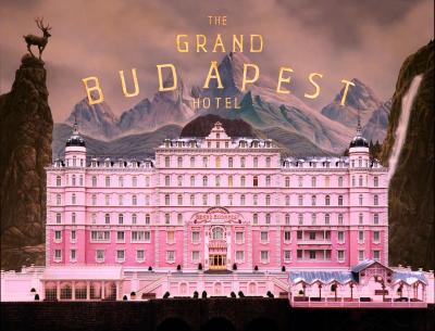 Cartaz do filme O Grande Hotel Budapeste, de Wes Anderson, 2014, atualmente em cartaz.