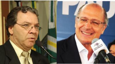 divulgação - clayton machado e Alckmin